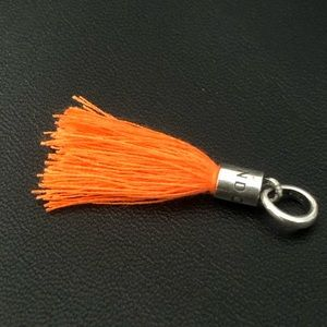 Jewelry - Orange Frabric Tassel 925  fits Pandora